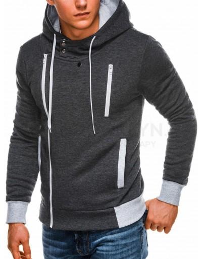 Men's zip-up hoodie B297 - dark grey