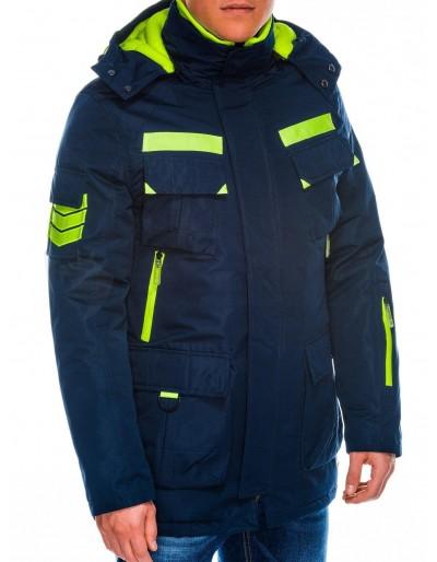 Men's winter jacket C379 - navy