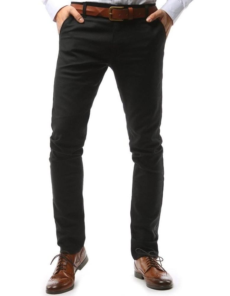 Černé pánské chino kalhoty UX1574