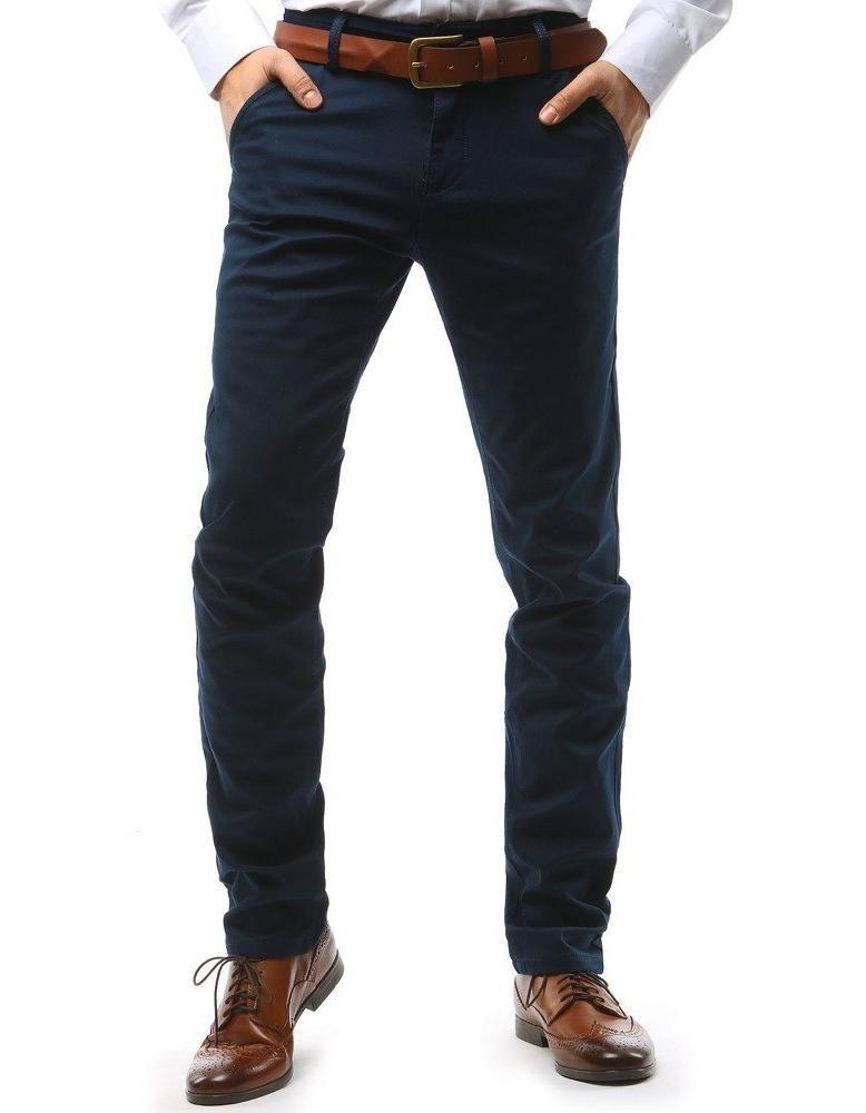 Tmavě modré pánské chino kalhoty UX1578