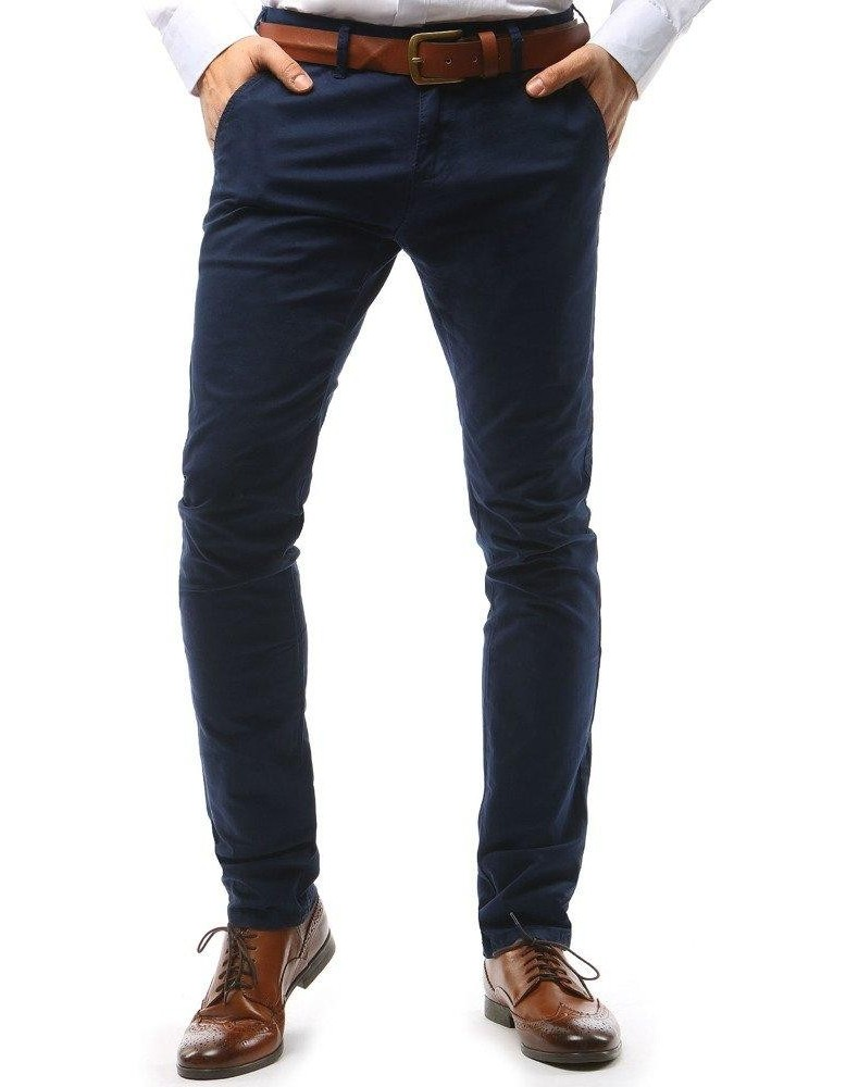 Tmavě modré pánské chino kalhoty UX1580