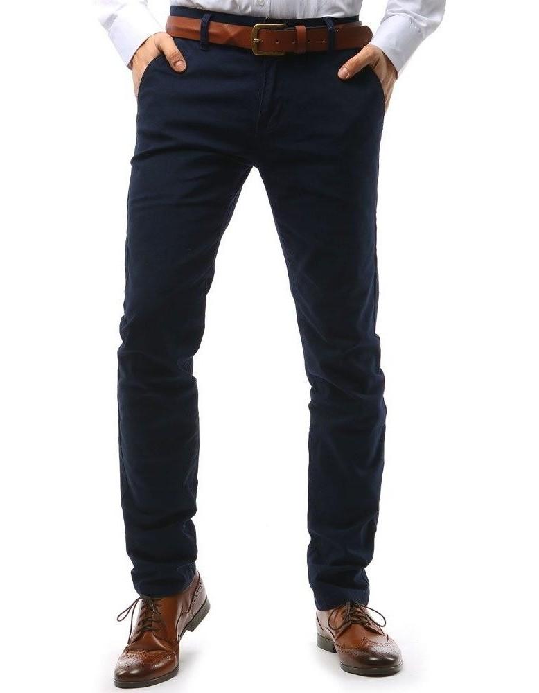 Tmavě modré pánské chino kalhoty UX1590