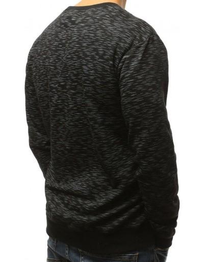 Černá pánská mikina bez kapuce s potiskem BX3719