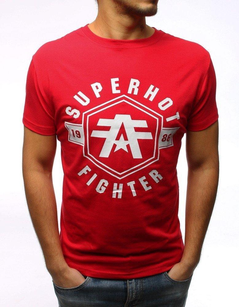 Pánské červené tričko RX2978