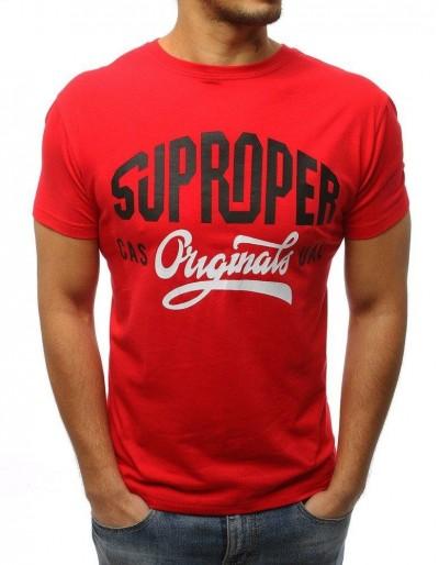 Červené pánské tričko RX2993 s potiskem