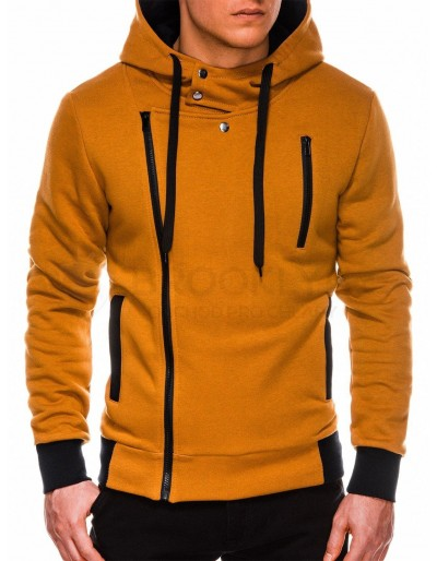Men's zip-up hoodie B297 - camel