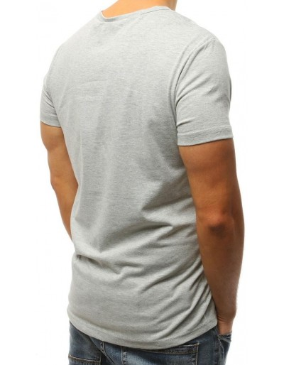 T-shirt męski z nadrukiem szary RX3000