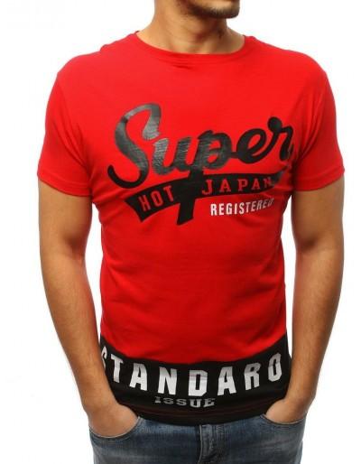 Červené pánské tričko RX3016 s potiskem
