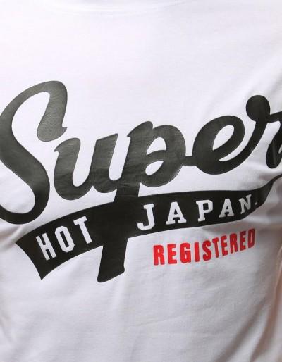 T-shirt męski z nadrukiem biały RX3017