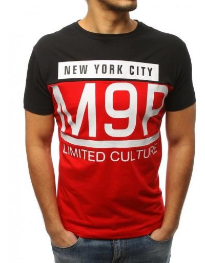 Pánské tričko s černým a červeným potiskem RX3020