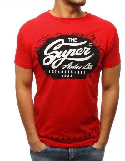 Červené pánské tričko RX3031 s potiskem
