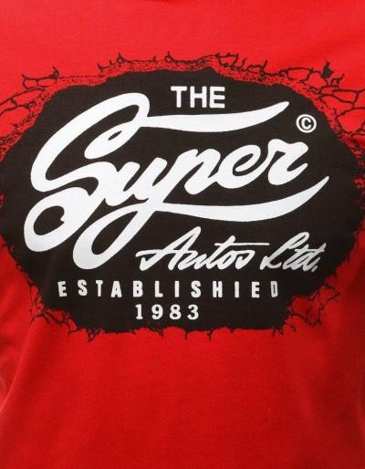 T-shirt męski z nadrukiem czerwony RX3031