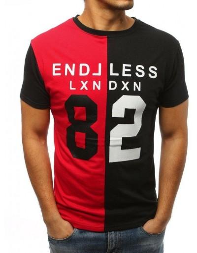 Pánské tričko s červeným a černým potiskem RX3039