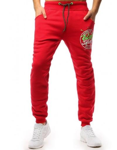 Červené pánské jogger tepláky UX1647