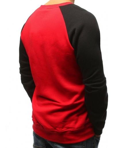 Červená pánská mikina bez kapuce BX3806