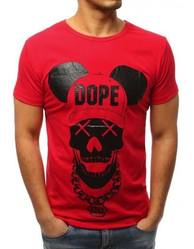 Červené pánské tričko RX3056 s potiskem