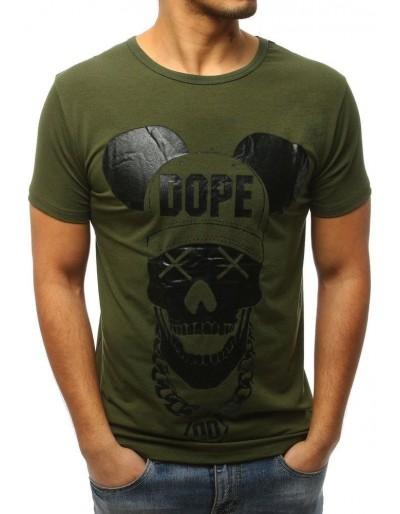 Zelené pánské tričko s potiskem RX3057