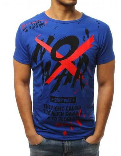 Modré pánské tričko s potiskem RX3065