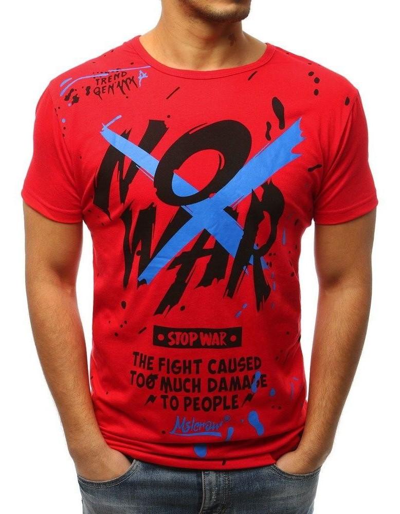 Pánské červené tričko RX3068