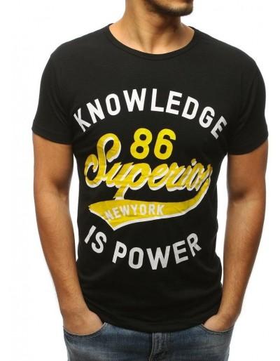 Černé pánské tričko RX3074 s potiskem