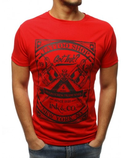 Červené pánské tričko RX3075 s potiskem