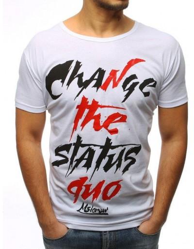 Bílé pánské tričko RX3084