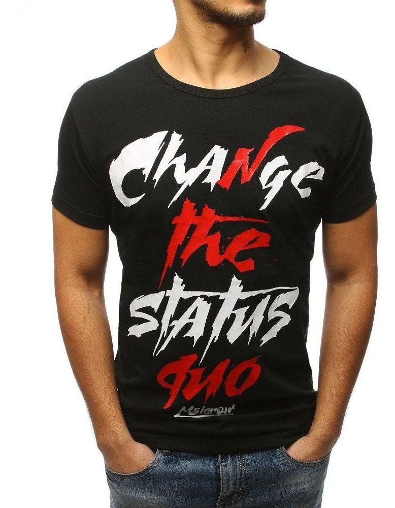Černé pánské tričko RX3086 s potiskem