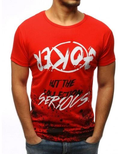 Červené pánské tričko RX3088 s potiskem
