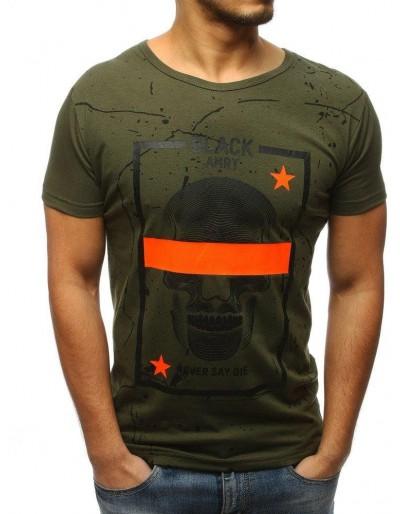 Zelené pánské tričko s potiskem RX3112