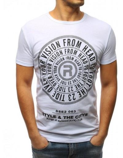 Bílé pánské tričko RX3114 s potiskem