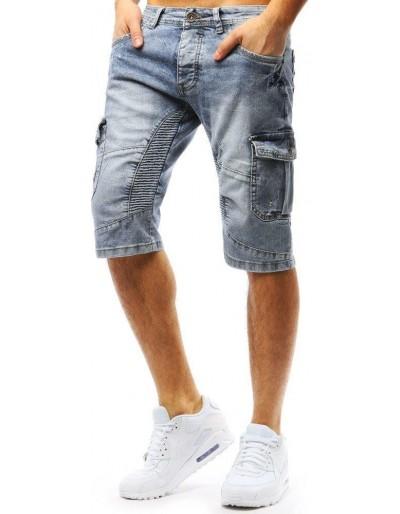 Spodenki męskie jeansowe niebieskie SX0725
