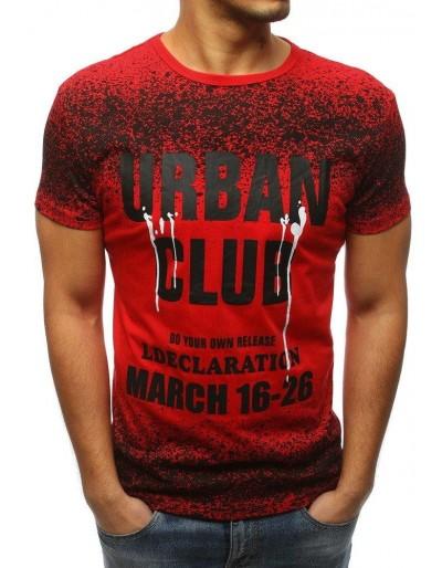 Červené pánské tričko RX3144 s potiskem