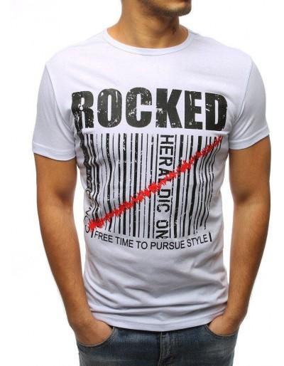 Bílé pánské tričko RX3154 s potiskem