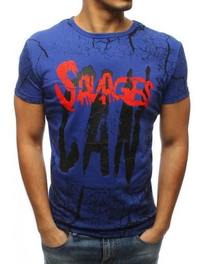 Modré pánské tričko s potiskem RX3159