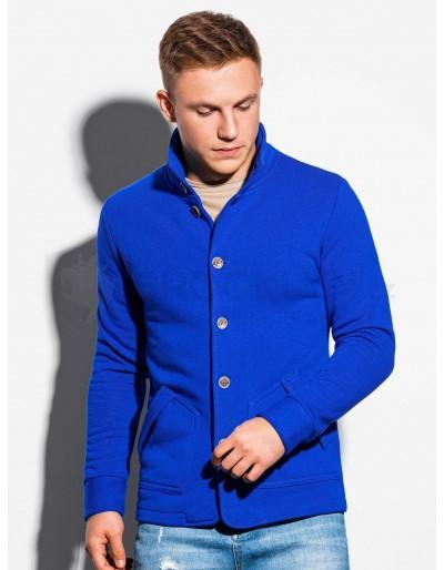 Men's buttoned sweatshirt CARMELO - blue