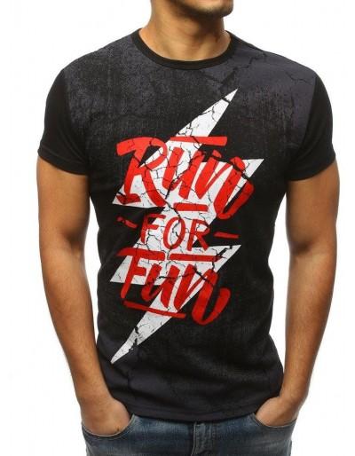 Černé pánské tričko RX3163 s potiskem