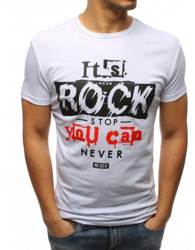 Bílé pánské tričko RX3164 s potiskem