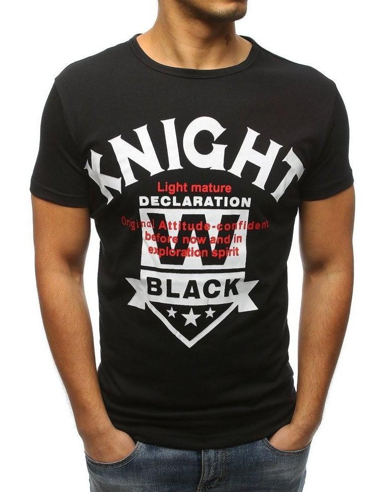 Černé pánské tričko RX3169 s potiskem