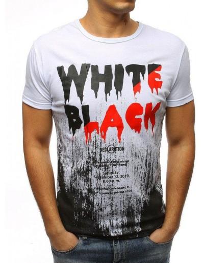Bílé pánské tričko RX3173 s potiskem