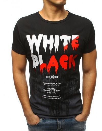 Černé pánské tričko s potiskem RX3174
