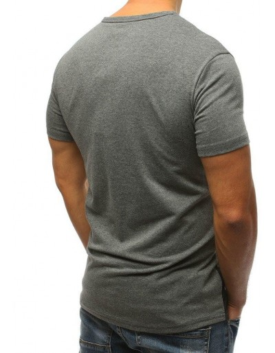 T-shirt męski z nadrukiem szary RX3175