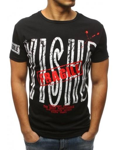Černé pánské tričko s potiskem RX3178