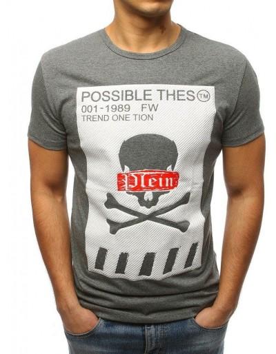 Pánské tričko s antracitovým potiskem RX3182